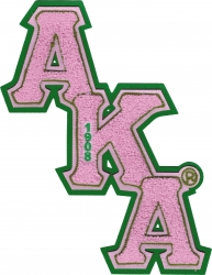 View Buying Options For The Alpha Kappa Alpha Diagonal Letter Chenille Sew-On Patch