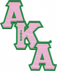 View Buying Options For The Alpha Kappa Alpha Diagonal Connected Twill Letter Iron-On Patch