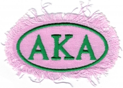 View Buying Options For The Alpha Kappa Alpha Distressed Emblem Oval Iron-On Patch