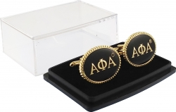 View Buying Options For The Alpha Phi Alpha Oval Mens Cufflinks