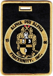 View Buying Options For The Alpha Phi Alpha Fraternity, Inc. Round Crest Luggage Tag