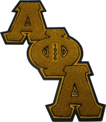 View Buying Options For The Alpha Phi Alpha Diagonal Connected Chenille Sew-On Patch