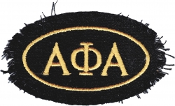 View Buying Options For The Alpha Phi Alpha Distressed Emblem Oval Iron-On Patch