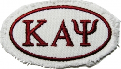 View Buying Options For The Kappa Alpha Psi Distressed Emblem Oval Iron-On Patch