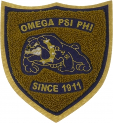 View Buying Options For The Omega Psi Phi Shield Chenille Sew-On Patch