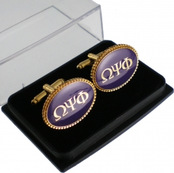 View Buying Options For The Omega Psi Phi Oval Cuff Links