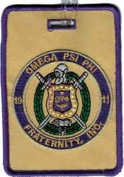 View Buying Options For The Omega Psi Phi Fraternity, Inc. Round Crest Luggage Tag