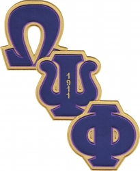 View Buying Options For The Omega Psi Phi Diagonal Connected Twill Iron-On Patch