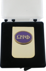 View Buying Options For The Omega Psi Phi Oval Medallion Money Clip