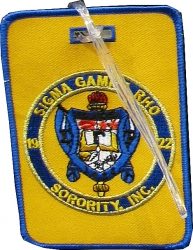 View Buying Options For The Sigma Gamma Rho Sorority, Inc. Round Crest Luggage Tag