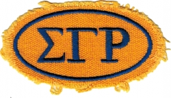 View Buying Options For The Sigma Gamma Rho Distressed Oval Iron-On Patch