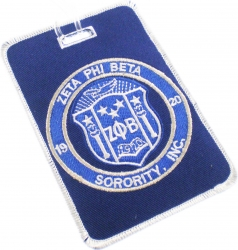 View Buying Options For The Zeta Phi Beta Sorority, Inc. Round Crest Luggage Tag
