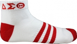 View Buying Options For The Delta Sigma Theta Striped Pair Ladies Ankle Socks