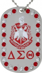 View Buying Options For The Delta Sigma Theta 1913 Double Sided Crystal Dog Tag