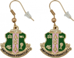 View Buying Options For The Alpha Kappa Alpha Crest Earrings