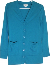 View Buying Options For The Hacci V-Neck 6-Button Ladies Lightweight Cardigan Sweater