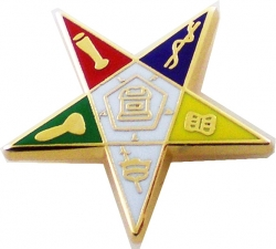 View Buying Options For The Eastern Star Symbol Cut-Out Lapel Pin