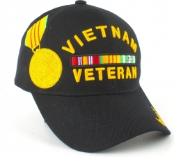 View Buying Options For The Vietnam Veteran Ribbons with Color Medal Mens Cap