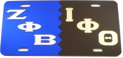 View Buying Options For The Zeta Phi Beta + Iota Phi Theta Split Mirror License Plate