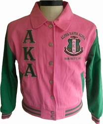 View Buying Options For The Alpha Kappa Alpha 2-Tone Ladies Letterman Twill Jacket