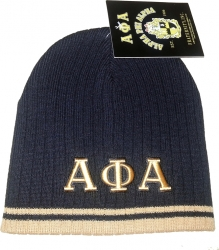 View Buying Options For The Alpha Phi Alpha Striped Mens Short Beanie Cap