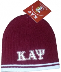 View Buying Options For The Kappa Alpha Psi Striped Short Beanie Cap