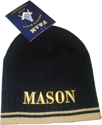 View Buying Options For The Mason Letters Striped Short Beanie Cap