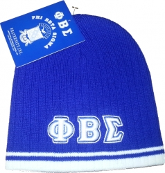 View Buying Options For The Phi Beta Sigma Striped Short Beanie Cap