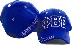 View Buying Options For The Phi Beta Sigma Centennial Big Letter Polymesh Mens Cap