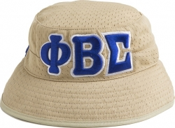 View Buying Options For The Phi Beta Sigma Big Letter Mens Floppy Bucket Mesh Hat
