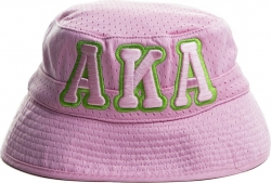 View Buying Options For The Alpha Kappa Alpha Big Letter Ladies Floppy Bucket Mesh Hat