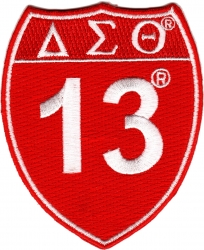 View Buying Options For The Delta Sigma Theta 13 Shield Sign Iron-On Patch
