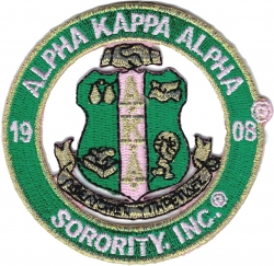 View Buying Options For The Alpha Kappa Alpha Sorority, Inc. Round Cut-Out Iron-On Patch