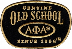 View Buying Options For The Alpha Phi Alpha Genuine Old School Satin Iron-On Patch