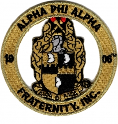 View Buying Options For The Alpha Phi Alpha Fraternity, Inc. Round Cut-Out Iron-On Patch