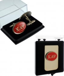 View Buying Options For The Kappa Alpha Psi Oval Medallion Mens Cufflinks & Money Clip Set