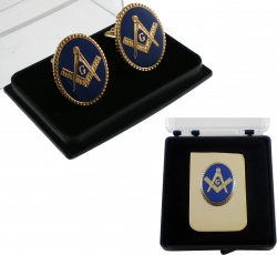 View Buying Options For The Mason Oval Medallion Mens Cufflinks & Money Clip Set