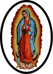 View Buying Options For The Our Lady of Guadalupe Oval Reflective Decal [Pre-Pack]