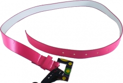 View Buying Options For The Stained Glass Art Buckle Patent Leather Ladies Skinny Belt