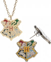 View Buying Options For The Harry Potter Crest Necklace and Earring Jewelry Set