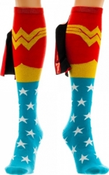 View Buying Options For The Wonder Woman Shiny Knee High Cape Socks