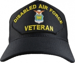 View Buying Options For The Disabled Air Force Veteran Emblematic Mens Cap