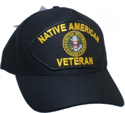 View Buying Options For The Native American Army Veteran Emblematic Mens Cap
