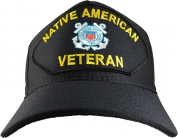 View Buying Options For The Native American Coast Guard Veteran Emblematic Mens Cap