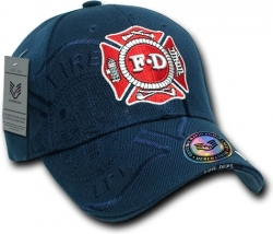 View Buying Options For The RapDom Fire Dept. Shield Logo Shadow Law Enf. Mens Cap