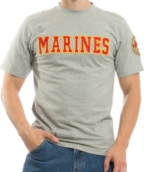 View Buying Options For The RapDom Marines Applique Text Mens Tee