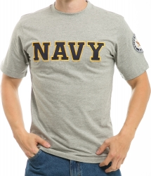 View Buying Options For The RapDom Navy Applique Text Mens Tee