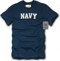 View Buying Options For The RapDom Navy Basic Felt Applique Mens Tee