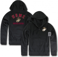 View Buying Options For The RapDom Marines Printed Full-Zip-Up Mens Hoodie Jacket