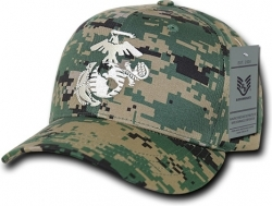 View Buying Options For The RapDom Marines Logo Back To The Basics Mens Cap